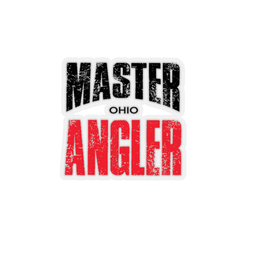 Ohio Master Angler Sticker - RED