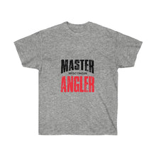 Load image into Gallery viewer, Wisconsin Master Angler Unisex Ultra Cotton Tee Red Logo
