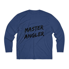 Load image into Gallery viewer, Master Angler Men's Long Sleeve Moisture Absorbing Tee - Black Slash