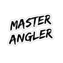 Load image into Gallery viewer, Master Angler Sticker - Square Black