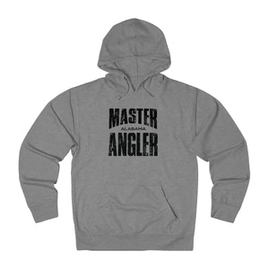 Alabama Master Angler Unisex Terry Hoodie Black Sq