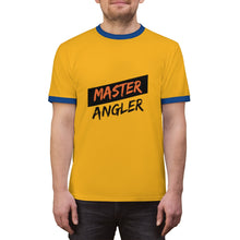 Load image into Gallery viewer, Master Angler Unisex Ringer Tee - Red Slash Logo