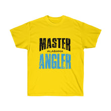 Load image into Gallery viewer, Alabama Master Angler Unisex Ultra Cotton Tee Blue Logo