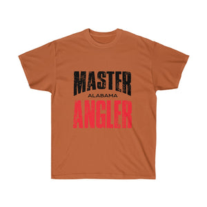 Alabama Master Angler Unisex Ultra Cotton Tee Red Logo