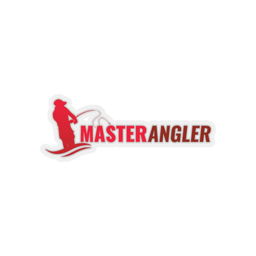Master Angler Sticker Long - Red