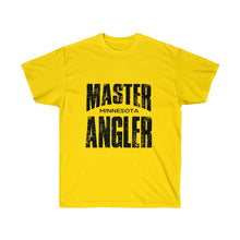 Load image into Gallery viewer, Wisconsin Master Angler Unisex Ultra Cotton Tee Black Logo