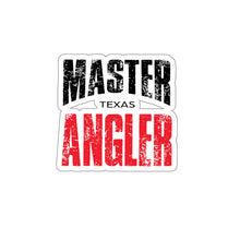 Load image into Gallery viewer, Texas Master Angler Sticker - RED