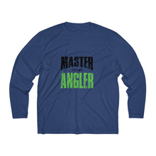 Load image into Gallery viewer, Texas Master Angler Men's Long Sleeve Moisture Absorbing Tee - Grn Sqr