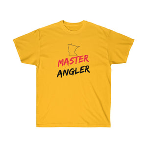 Minnesota Master Angler Unisex Ultra Cotton Tee Red Logo
