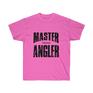 Texas Master Angler Unisex Ultra Cotton Tee Black Logo