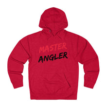 Load image into Gallery viewer, Master Angler Slash Unisex Terry Hoodie - Red