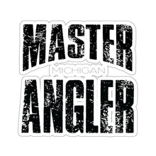 Load image into Gallery viewer, Michigan Master Angler Square Sticker - Black