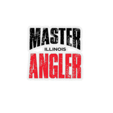 Load image into Gallery viewer, Illinois Master Angler Sticker - RED