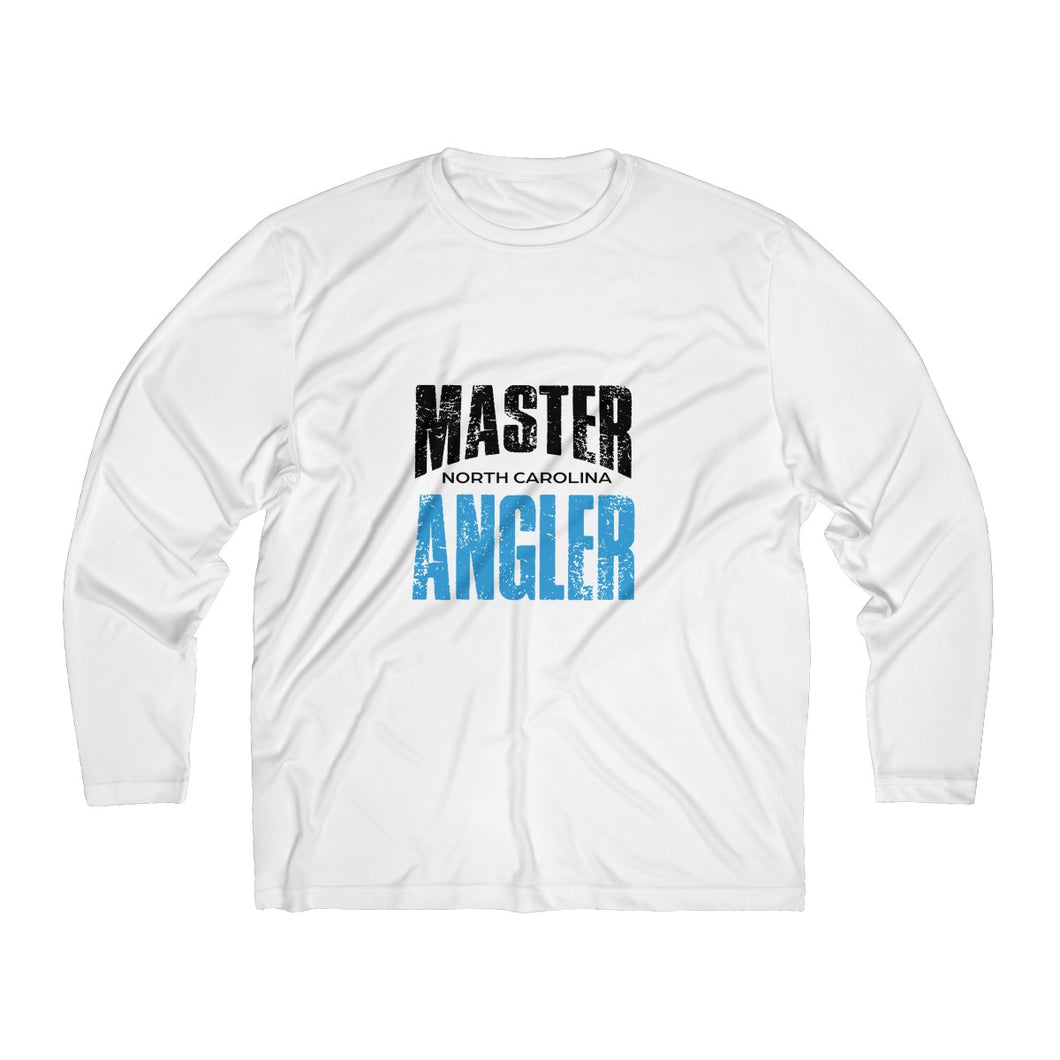 North Carolina Master Angler Men's Long Sleeve Moisture Absorbing Tee - Blue Sqr