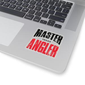 Texas Master Angler Sticker - RED