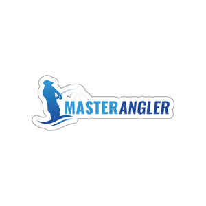 Master Angler Sticker Long - Blue