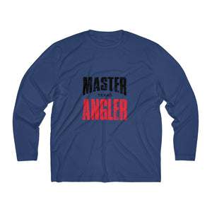 Texas Master Angler Men's Long Sleeve Moisture Absorbing Tee - Red Sqr
