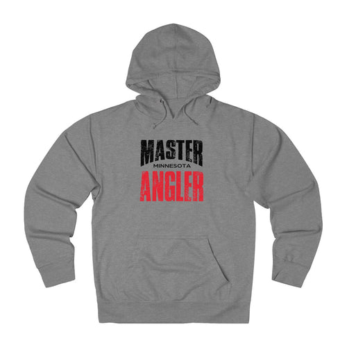 Minnesota Master Angler Unisex Terry Hoodie Red Sq