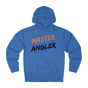 Master Angler Slash Unisex Terry Hoodie - Orange