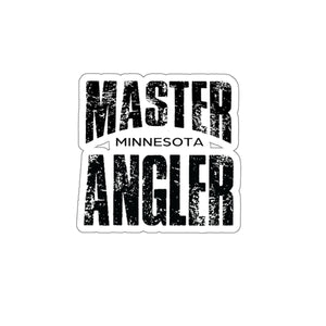 Minnesota Master Angler Sticker - BLACK