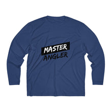 Load image into Gallery viewer, Master Angler Men's Long Sleeve Moisture Absorbing Tee - Black & Black Slash
