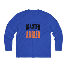Load image into Gallery viewer, Illinois Master Angler Men's Long Sleeve Moisture Absorbing Tee - Orange Sqr