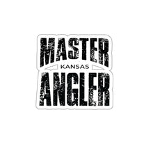 Load image into Gallery viewer, Kansas Master Angler Sticker - BLACK