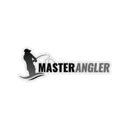 Master Angler Sticker Long - Black