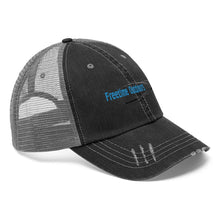 Load image into Gallery viewer, Freetime Outdoors Unisex Trucker Hat - Blue Logo