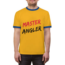 Load image into Gallery viewer, Master Angler Unisex Ringer Tee - Red Clear Slash