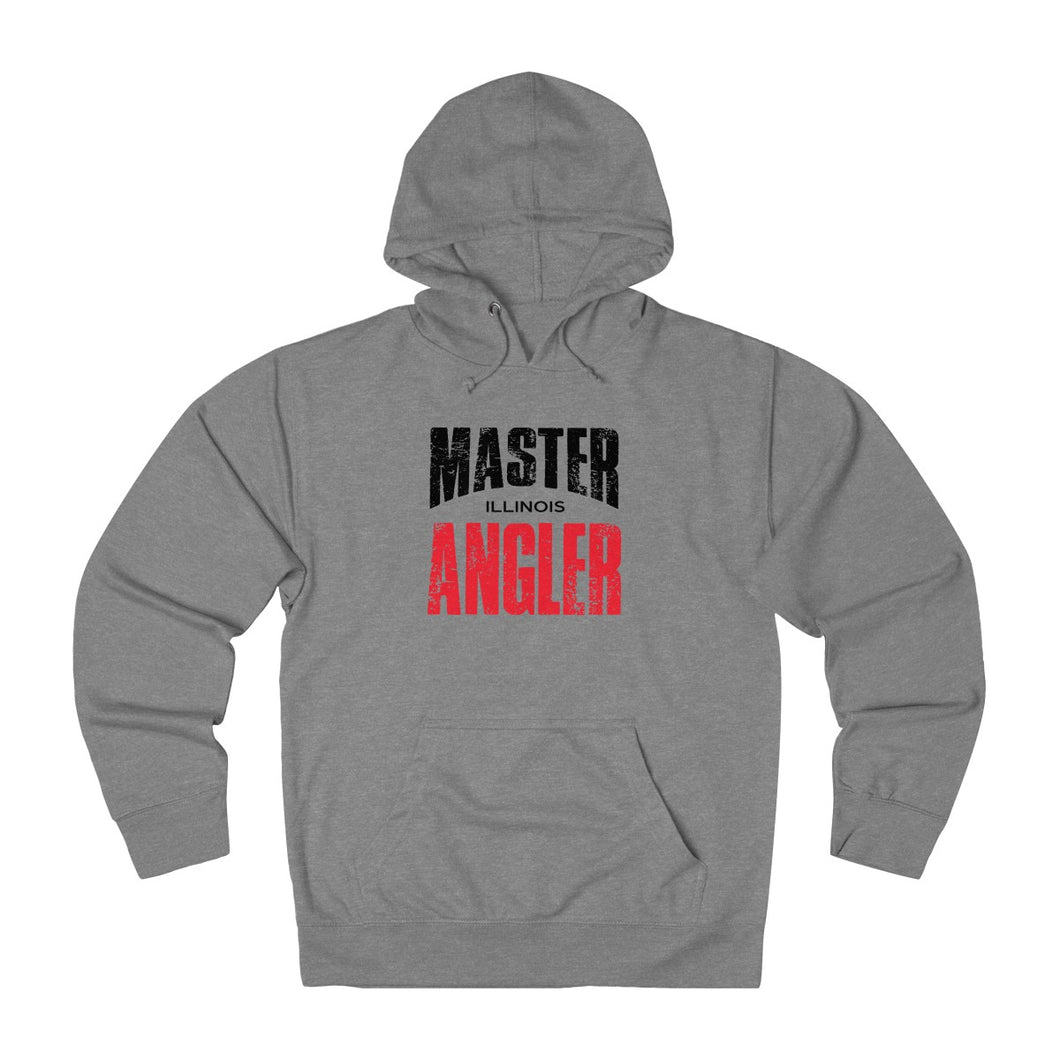 Illinois Master Angler Unisex Terry Hoodie Red Sq