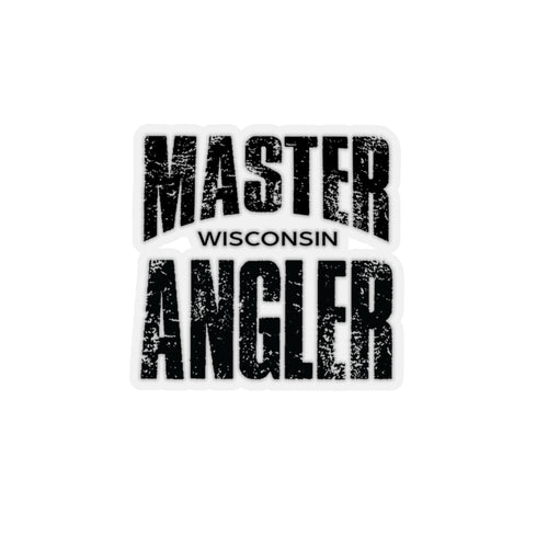 Wisconsin Master Angler Sticker - BLACK