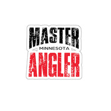 Load image into Gallery viewer, Minnesota Master Angler Sticker - RED