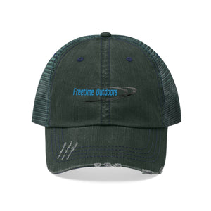 Freetime Outdoors Unisex Trucker Hat - Blue Logo