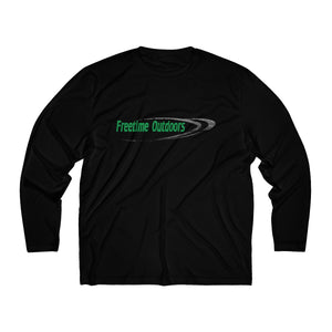 FREETIME Men's Long Sleeve Moisture Absorbing Tee - Green & Black
