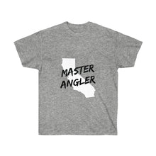 Load image into Gallery viewer, California Master Angler Unisex Ultra Cotton Tee Black Logo