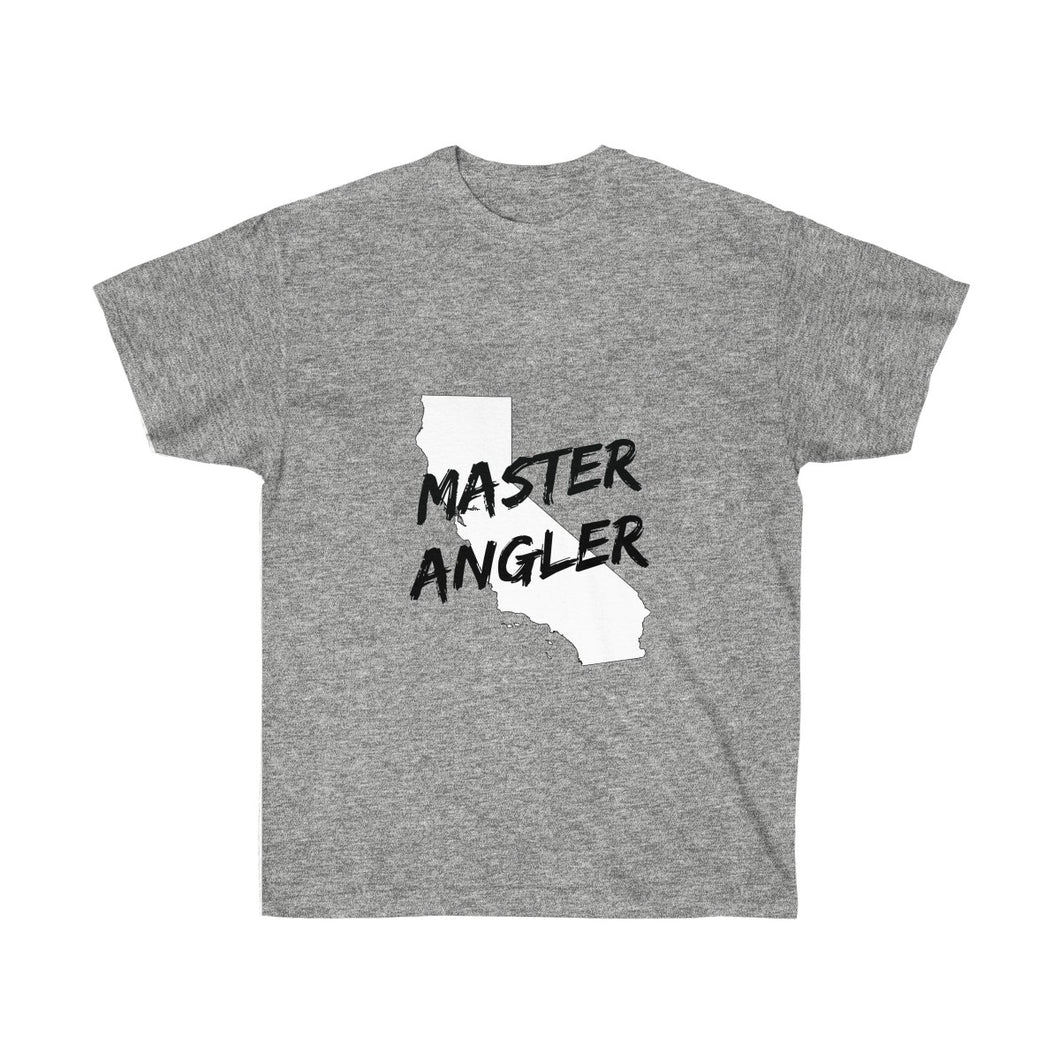 California Master Angler Unisex Ultra Cotton Tee Black Logo