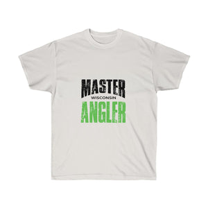 Wisconsin Master Angler Unisex Ultra Cotton Tee Green Logo