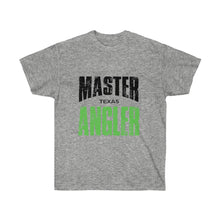 Load image into Gallery viewer, Texas Master Angler Unisex Ultra Cotton Tee Green Logo
