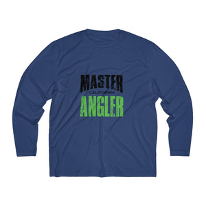 California Master Angler Men's Long Sleeve Moisture Absorbing Tee - Green Sqr