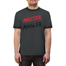 Load image into Gallery viewer, Ohio Master Angler Unisex Ringer Tee - Red Logo