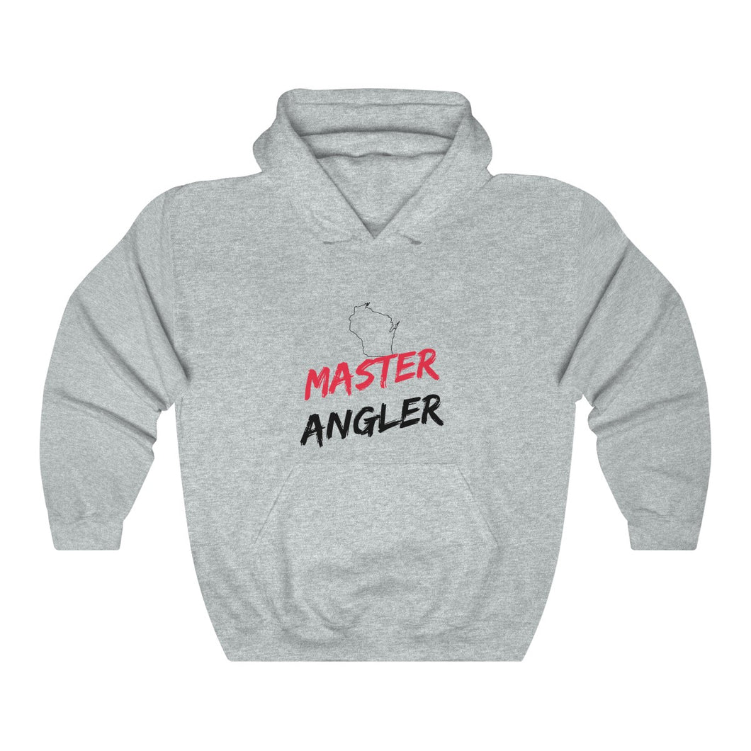 Wisconsin Master Angler Unisex Heavy Blend™ Hooded Sweatshirt -  State Red
