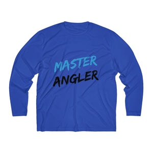 Master Angler Men's Long Sleeve Moisture Absorbing Tee - Blue Slash
