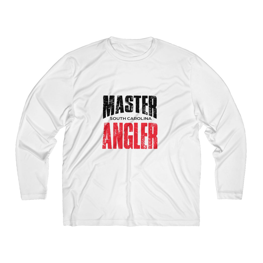 South Carolina Master Angler Men's Long Sleeve Moisture Absorbing Tee - Red Sqr