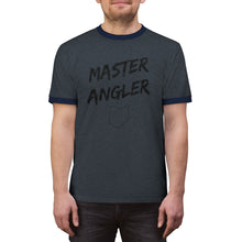 Load image into Gallery viewer, Ohio Master Angler Unisex Ringer Tee - Black Logo