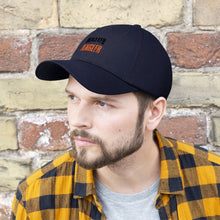 Load image into Gallery viewer, Michigan Master Angler Unisex Twill Hat - Orange Logo