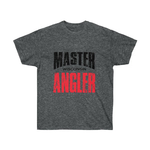 Wisconsin Master Angler Unisex Ultra Cotton Tee Red Logo