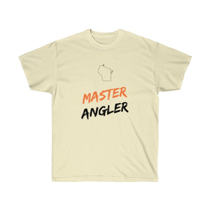 Wisconsin Master Angler Unisex Ultra Cotton Tee Orange Logo
