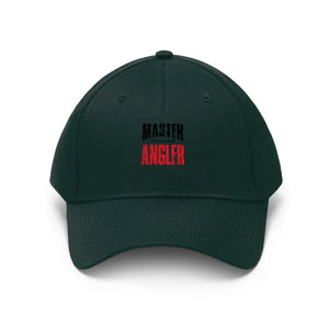 Wisconsin Master Angler Unisex Twill Hat - Red Logo