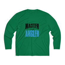 Load image into Gallery viewer, Texas Master Angler Men's Long Sleeve Moisture Absorbing Tee - Blue Sqr
